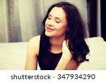 beautiful woman wearing evening ... | Shutterstock . vector #347934290