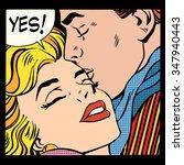 Couple Love Yes Pop Art Retro...