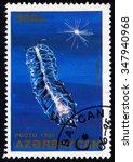 Small photo of AZERBAIJAN - CIRCA 1995: A stamp printed in Azerbaijan shows Agalma Okeni, Marine Animal series, circa 1995