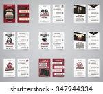 american football brochure set. ... | Shutterstock .eps vector #347944334