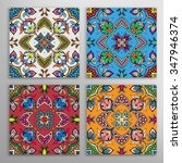 seamless geometric patterns set ... | Shutterstock .eps vector #347946374