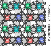 vector seamless pattern with...   Shutterstock .eps vector #347950040