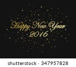 happy new year on a black... | Shutterstock .eps vector #347957828