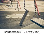 Broken Chain Swing In Playground