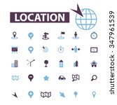 map  location  route  icons ... | Shutterstock .eps vector #347961539