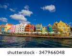 view of downtown willemstad.... | Shutterstock . vector #347966048
