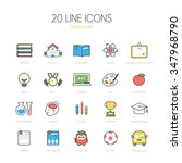 education line icon set | Shutterstock .eps vector #347968790