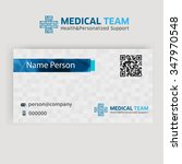 medical card corporate identity | Shutterstock .eps vector #347970548