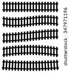 3d railway  railroad track... | Shutterstock .eps vector #347971196