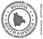 vintage bolivia stamp with... | Shutterstock .eps vector #347971460