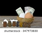 Money In Brown And White Egg...