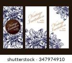 romantic invitation. wedding ... | Shutterstock . vector #347974910
