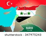 syria geopolitical map with... | Shutterstock . vector #347975243