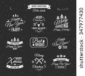 christmas labels elements... | Shutterstock .eps vector #347977430