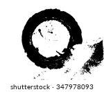 black brush stroke in the form...   Shutterstock .eps vector #347978093