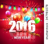 happy new year 2016   colorful... | Shutterstock .eps vector #347981078