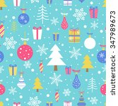 seamless vector pattern with... | Shutterstock .eps vector #347989673