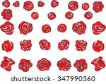 rose set | Shutterstock .eps vector #347990360