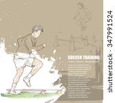 illustration of soccer training.... | Shutterstock .eps vector #347991524