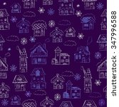 hand drawn christmas seamless... | Shutterstock .eps vector #347996588