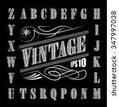 alphabet letters vintage set... | Shutterstock .eps vector #347997038