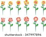 vector rose set | Shutterstock .eps vector #347997896