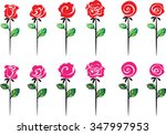 vector rose set | Shutterstock .eps vector #347997953