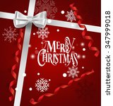 holiday gift with christmas... | Shutterstock .eps vector #347999018