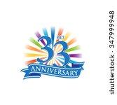 33rd anniversary ribbon logo...   Shutterstock .eps vector #347999948