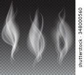 white smoke waves on...   Shutterstock .eps vector #348000560