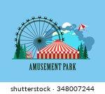 vector illustration poster... | Shutterstock .eps vector #348007244