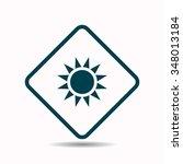 sun  icon  vector illustration. ...