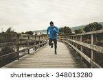 runner man running very fast...   Shutterstock . vector #348013280