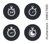 stopwatch    vector icon in... | Shutterstock .eps vector #348017600