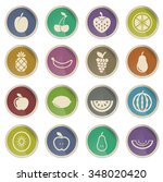 fruits simply icons for web... | Shutterstock .eps vector #348020420