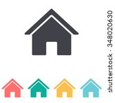 home icon | Shutterstock .eps vector #348020630