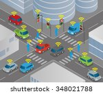 traffic and wireless network ... | Shutterstock .eps vector #348021788