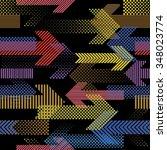 vector seamless pattern . lines ... | Shutterstock .eps vector #348023774