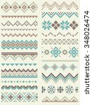 collection of pixel retro brush ... | Shutterstock .eps vector #348026474