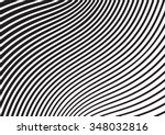 black and white mobious wave... | Shutterstock .eps vector #348032816