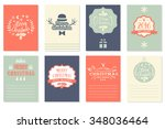 collection of 8 christmas cards.... | Shutterstock .eps vector #348036464