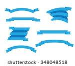 banner ribbons vector set  | Shutterstock .eps vector #348048518