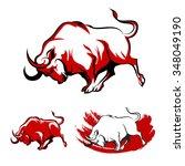 Fighting Bull Emblem Set....