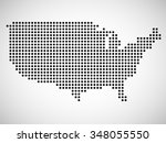 abstract map of usa from round... | Shutterstock .eps vector #348055550