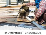 a worker have working by a... | Shutterstock . vector #348056306