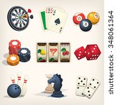 games equipment icons for... | Shutterstock .eps vector #348061364