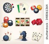 games equipment icons for... | Shutterstock .eps vector #348061364