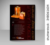 business flyer template with... | Shutterstock .eps vector #348061604