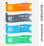 set of ribbon banners. wave... | Shutterstock .eps vector #348064538