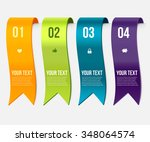 set of ribbon banners. wave... | Shutterstock .eps vector #348064574